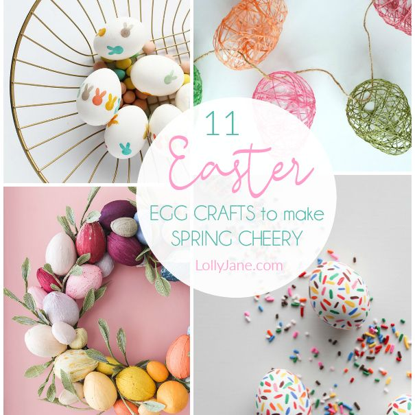 11 Easter Egg Crafts For Easy Spring Decor In 2020 Egg Crafts Plastic Easter Eggs Easter Egg Crafts