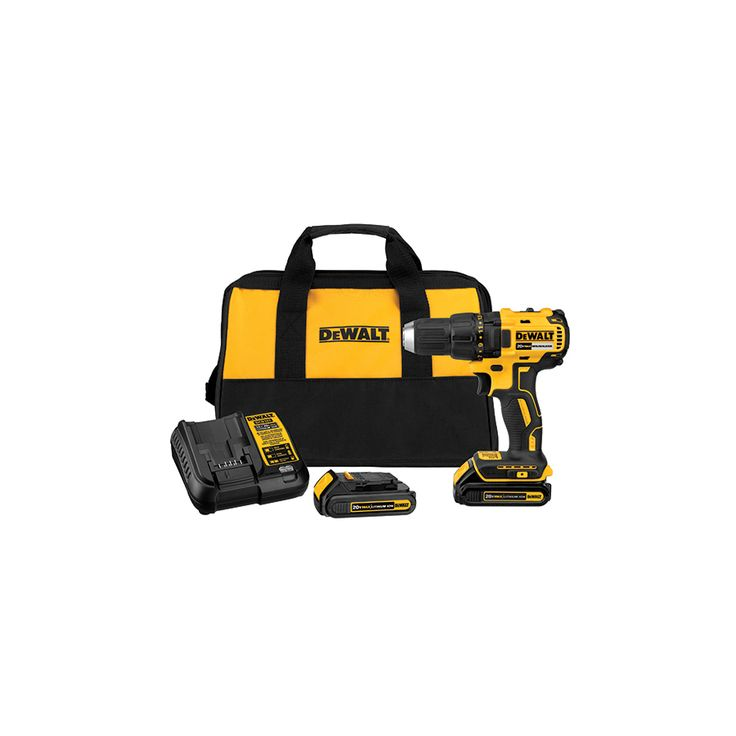 DEWALT 20-Volt Max Lithium Ion (Li-ion) 1/2-in Cordless Brushless Drill with Battery and Soft Case