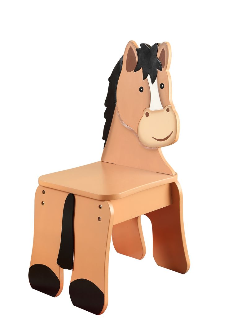 Fantasy Fields Happy Farm Horse Chair Farm Chair Horse Hand Crafted Hand Painted Themed