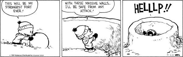 Calvin and Hobbes Comic Strip, January 11, 2014 on GoComics.com