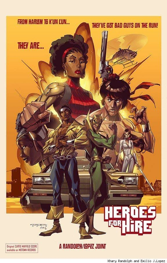 Heroes for hire, starring luck cage and iron fist