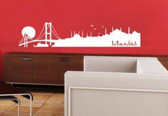 Wandtattoo Istanbul Skyline - die Weltmetropole der Türkei am Bosporus