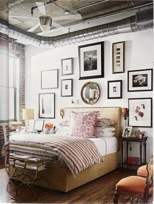 Bedroom Picture Collage Above Bed Home Sweet Home