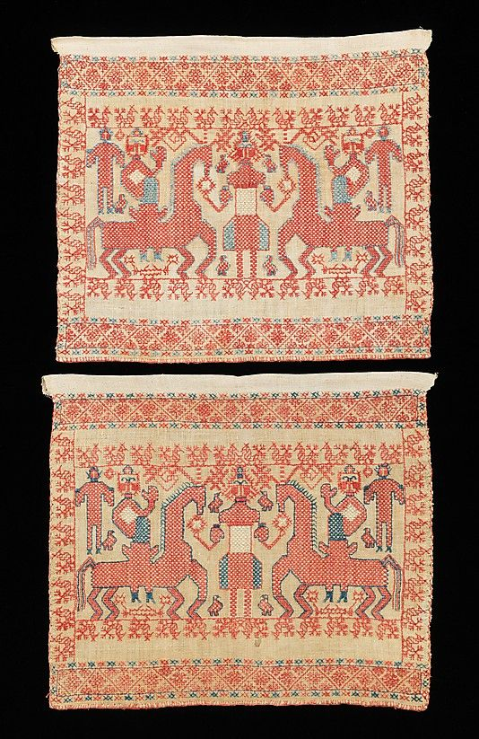 Textile Date: early 19th century Culture: Russian Medium: linen, cotton
