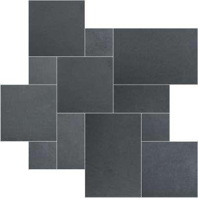 Montauk Blue Ashlar Pattern Gauged Slate Floor and Wall Tile (16 sq. ft. / case)