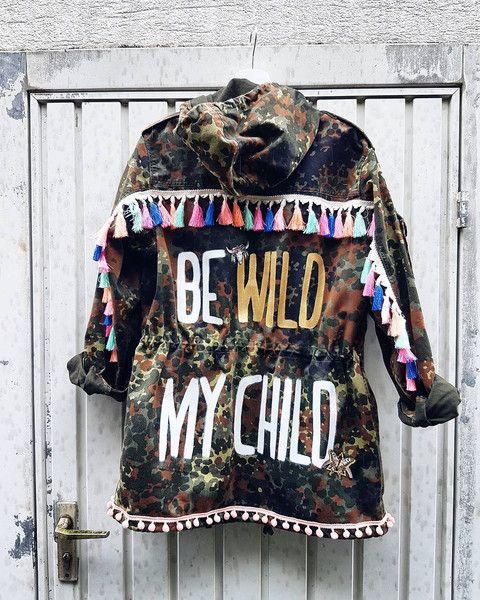 Weiteres - FESTIVAL PARKA Be wild my Child Camouflage Hippie - ein Designerstück von PALMENKIND bei DaWanda
