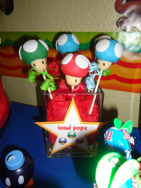Great toad pops! #supermario #birthday
