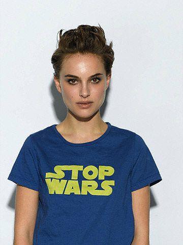 anti-war star-wars type  (Natalie Portman on ffffound)