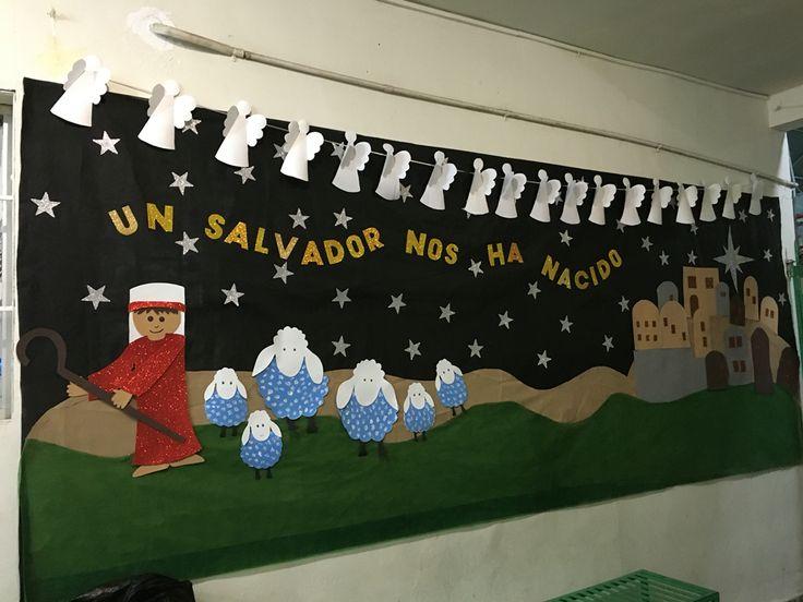 17 mejores im genes sobre ministerio infantil adventista for Mural navideno