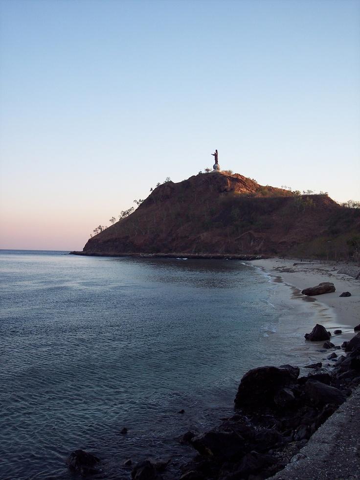 God is a DJ. Christo Rei - Dili - East Timor.