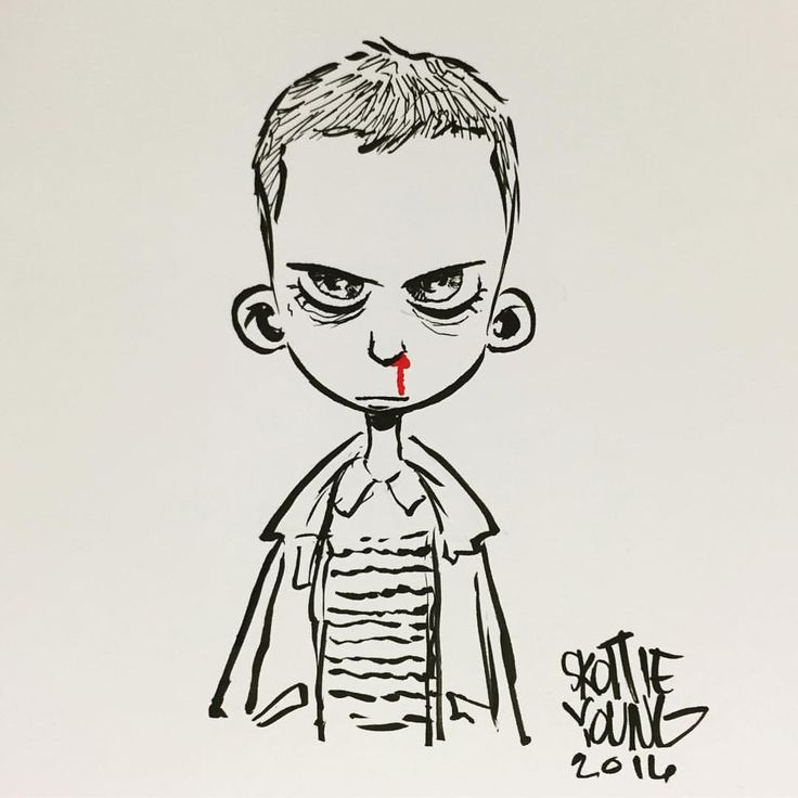 Eleven / Stranger Things by @skottieyoung