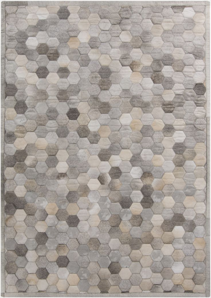 Piece By Piece, This Leather Geometric Rug Design Is Patched Together And  Quilted To Add