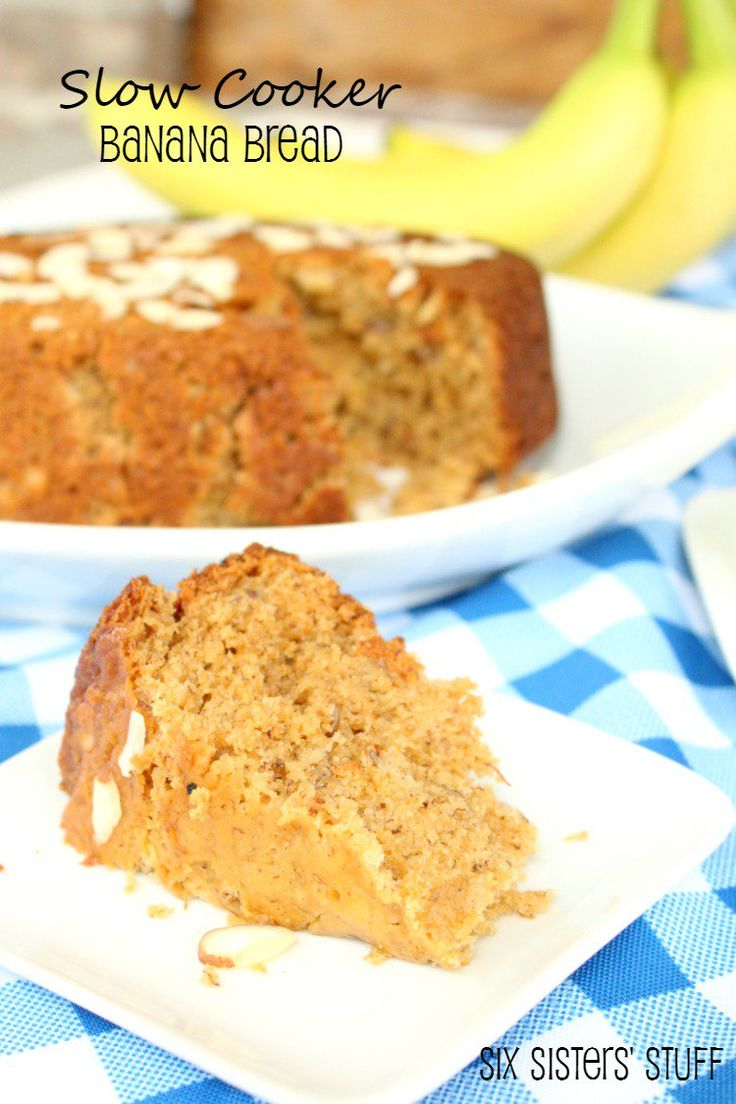 Slow Cooker Banana Bread from SixSistersStuff.com