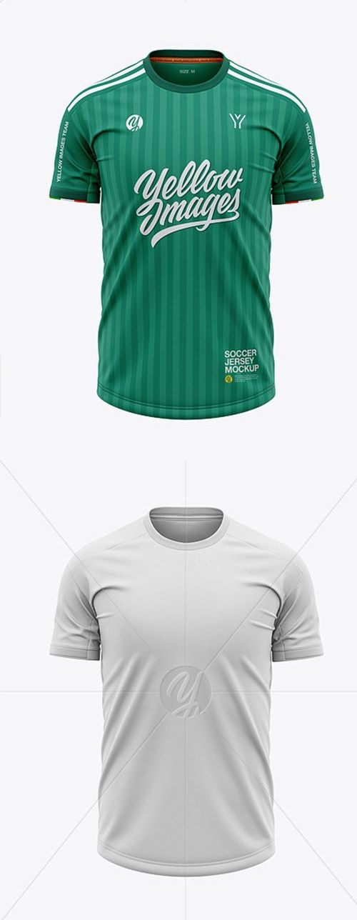 Download Mens Soccer Crew Neck Jersey Mockup - Front View - Free ...