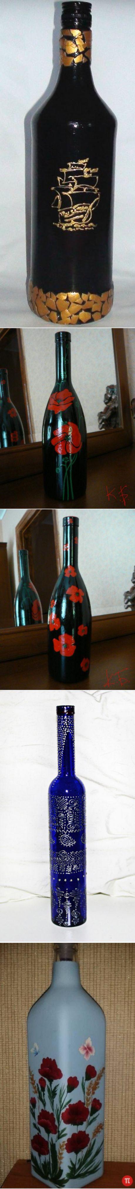 Поиск на Постиле: роспись бутылок