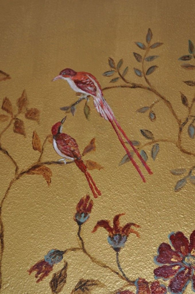 The 84 best images about wall art mural painting on for Bird mural wallpaper