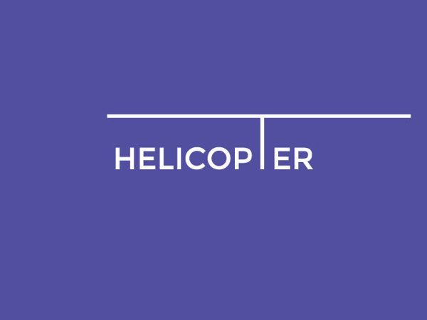 From 'Typography Word Play - 2' series by Arun Raj, a free time experiment, inspired by Ivan Chermayeff, Tom Geismar, and Sagi Haviv's work: Helicopter.