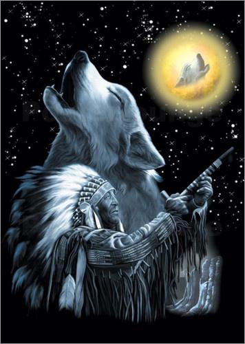 Die Ureinwohner Nordamerikas sind besonders durch Indianerfilme und Western bekannt geworden. Während die meisten dieser Filme zur reinen Unterhaltung sind, erinnert ein Poster an die Traditionen und den Glauben der Indianer.