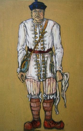 Н.К.Рерих. Эскиз мужского костюма (Слуга). 1912