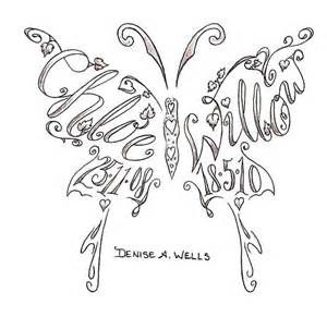 With Names Intertwined Butterfly Tattoo - Bing images