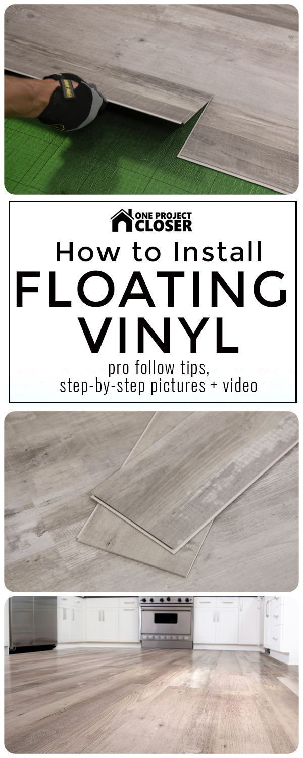 Pro Follow on How to Install Floating Vinyl Flooring with pro tips, video and photo installation guide - One Project Closer