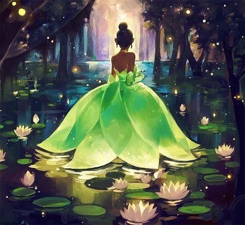 The Princess and the Frog Tiana illustration , Disney princess