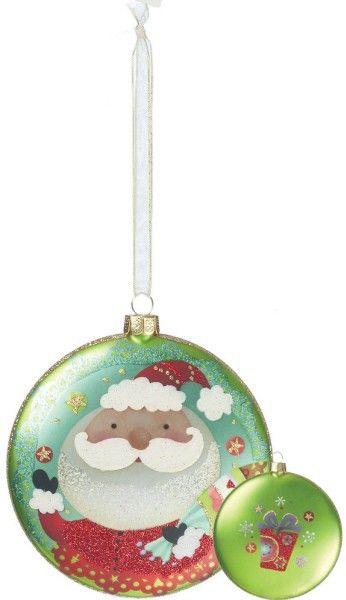 "Silly Santa Ornament- 4"""