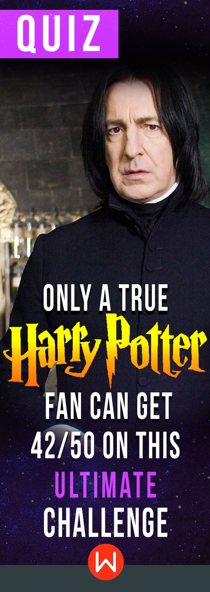Can you Alohomora and ace this quiz? HP trivia quiz. Many people like Harry Potter, but do you really KNOW Harry Potter? Only an authentic Potterhead can get 42/50 right on this Harry Potter test. Can you? Professor Snape is looking at you! HP challenge. JK Rowling ultimate quiz.