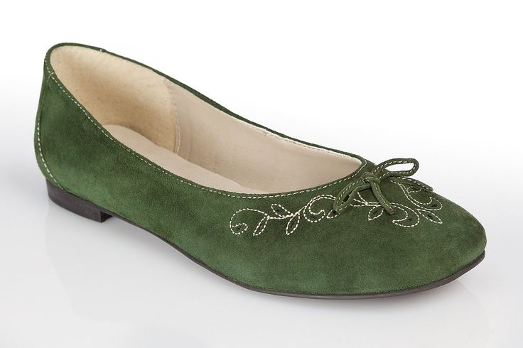 Trachten Ballerina - CHANTAL - apfelgrün, fuchsia, flaschengrün: Amazon.de: Schuhe & Handtaschen