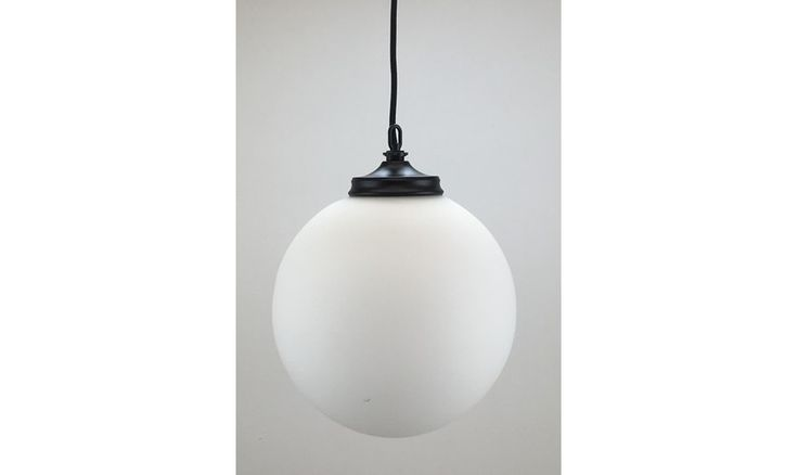 Mr Ralph | OPAL Glass Globe pendant 30cm - BLACK OR WHITE FITTINGS - ESSENTIALS, Pendants