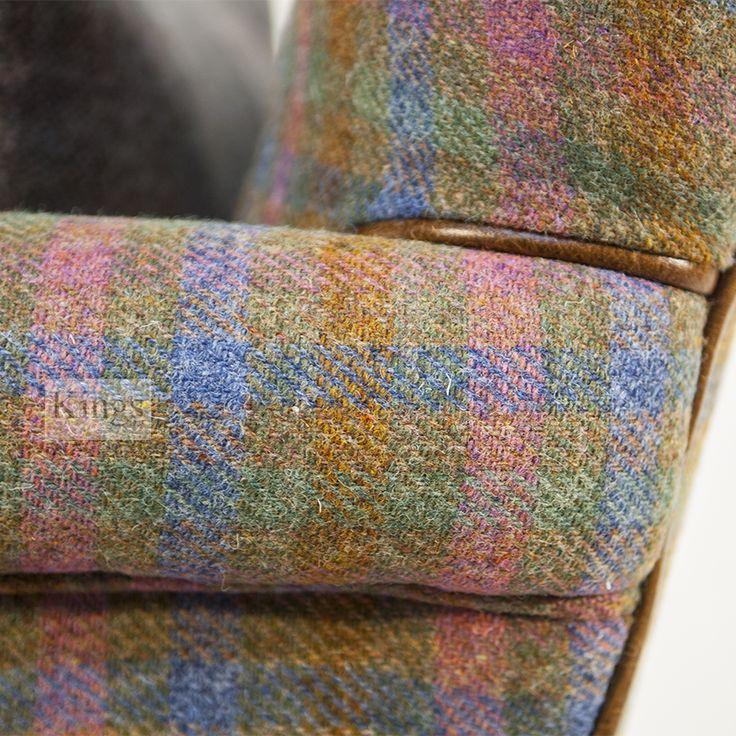 #HarrisTweed and #leather detail.  http://www.kingsinteriors.co.uk/brands/tetrad-harris-tweed/tetrad-harris-tweed-bowmore-chair