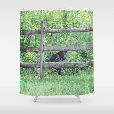 Black Bear Shower Curtain #black #bears