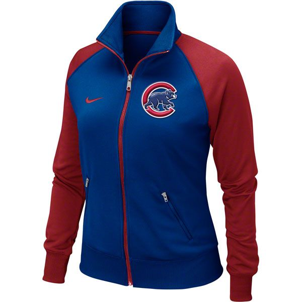 Chicago Cubs Women's Royal Track Jacket $64.95 @Chicago Cubs