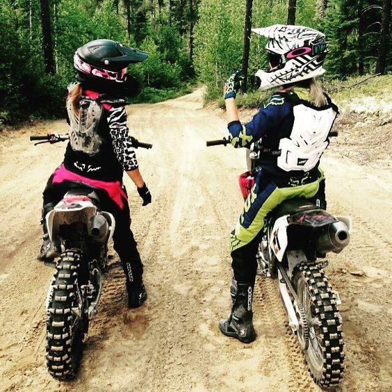hot girls riding dirt bikes