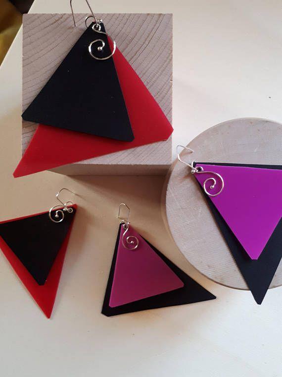 Guarda questo articolo nel mio negozio Etsy https://www.etsy.com/it/listing/553445328/orecchini-geometrici-leboncine-by