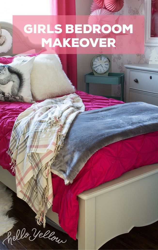 We love this girls bedroom makeover!