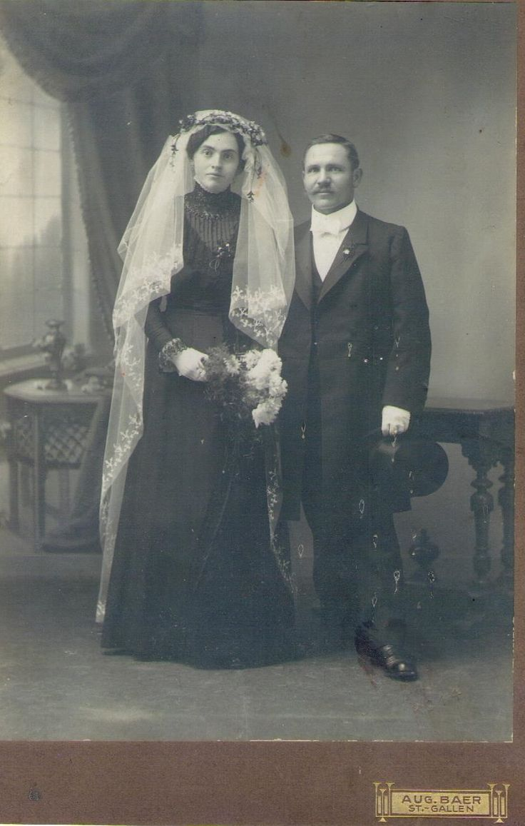 1914 wedding photo. When I look at antique wedding pictures I always wonder what happened to the couple. How many children they had, how many of them died in childhood, which was so common in the past. And were they happy being married...