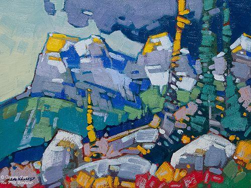 Cameron Bird, 'Three Sisters Stormlight', 12'' x 16'' | Galerie d'art - Au P'tit Bonheur - Art Gallery