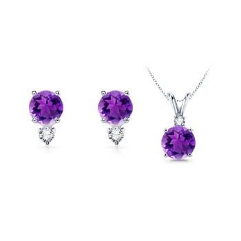 Angara Pear and Marquise Amethyst Grapevine Earrings xmluj6Ay5L
