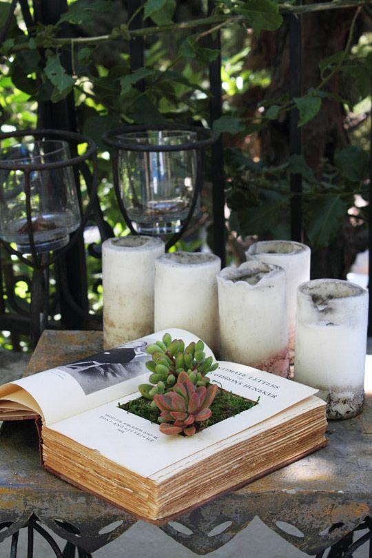 book planter DIY