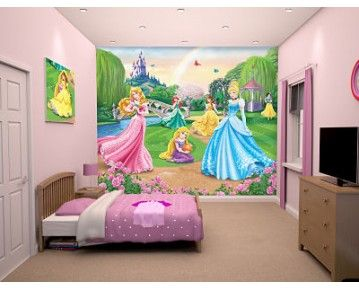 With the Grand castle in the background and all the princesses enjoying themselves in the foreground your little princess with love this wall mural! Available to order at www.middletonwood.co.uk