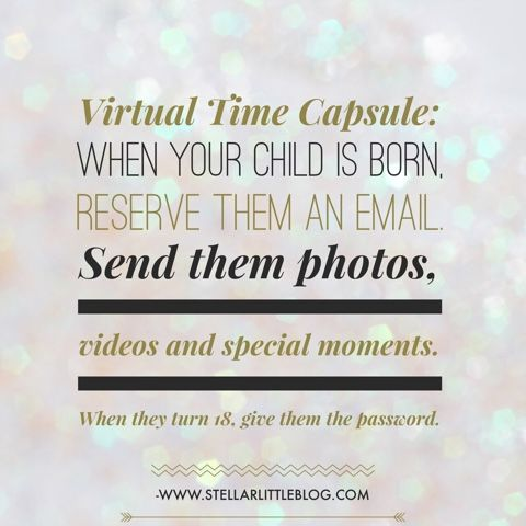 How to create a virtual time capsule of your favorite moments with your children. #momlife