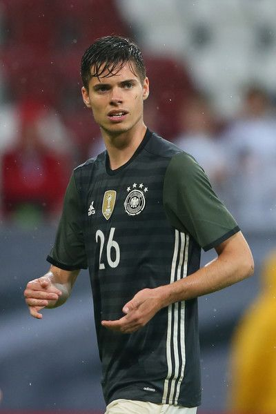 Julian Weigl of Germany looks on during the international friendly match between Germany and Slovakia at WWK-Arena on May 29, 2016 in Augsburg, Germany.