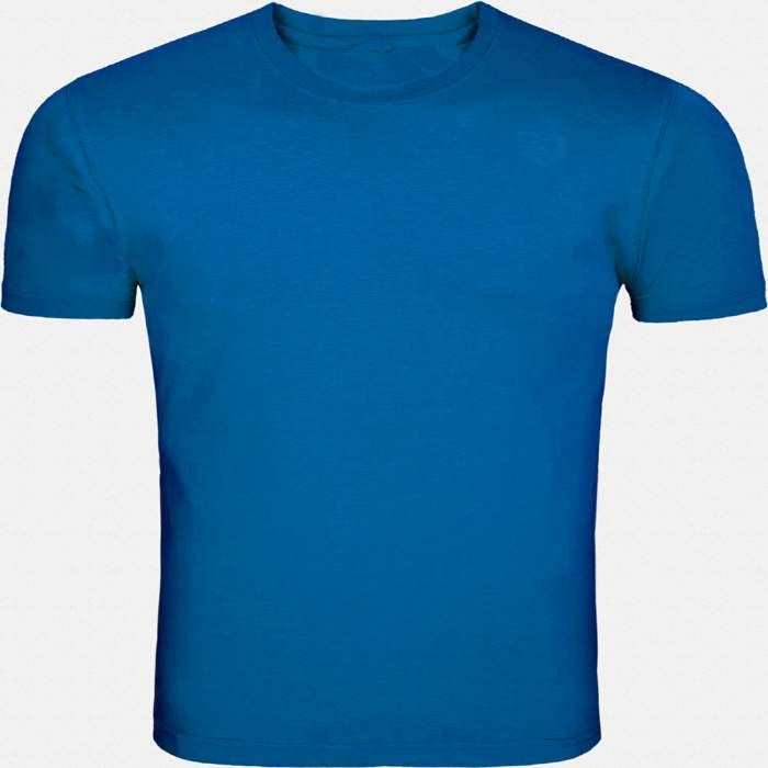 This blue round necked, half-sleeved plain T-shirt gives a casual fit to you for all seasons. Wear this super-comfortable cotton T-shirt with denims and trousers or for a workout or even under a casual jacket.