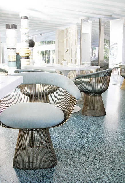 The Avalon Beverly Hills, Los Angeles—vintage Platner Side Chairs.