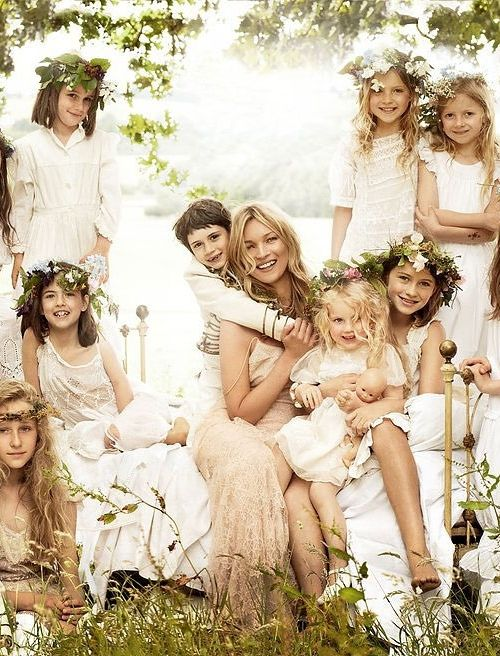 Kate Moss in John Galliano at her 2011 wedding to Jamie Hince. Photographed by Mario Testino, Vogue, August 2011.