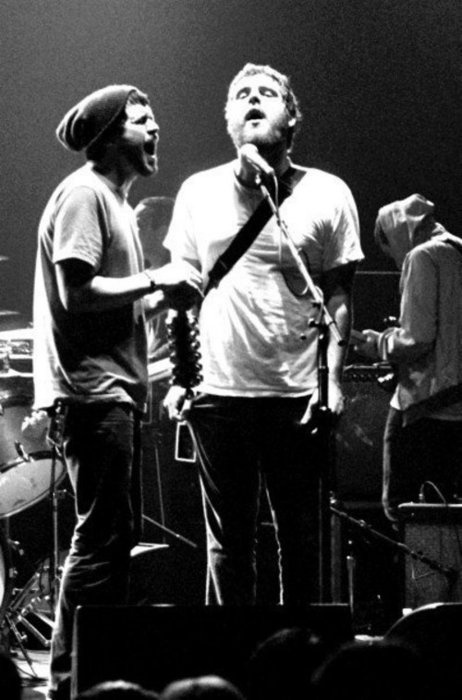 Jesse Lacey of Brand New and Andy Hull of Manchester Orchestra. Why am I not at this concert?