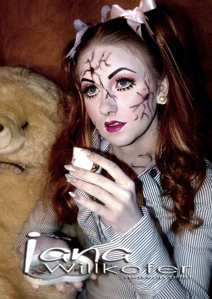 12 best doll makeup images on Pinterest | Cracked doll makeup ...