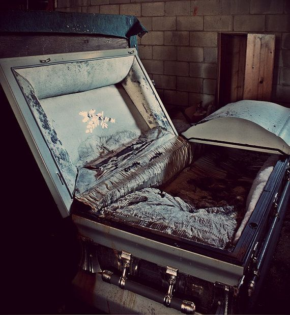 Open Casket Abandoned Funeral Home by KathrynNee on Etsy   35 00. 51 best funeral oddities images on Pinterest   Funeral  Memento