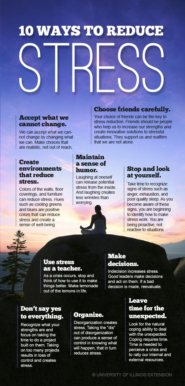 10 Ways to Reduce Stress — Improve your mental, emotional, and physical well-being! #infographic #health #reli